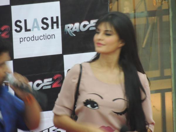 Jacqueline Arrived At Reliance Digital In Pune To Promote Race 2