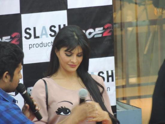 Jacqueline Make An Appearance At Reliance Digital In Pune To Promote Race 2
