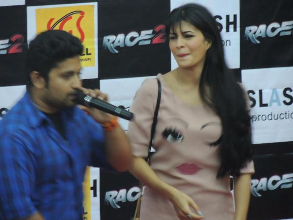 Jacqueline Snapped At Reliance Digital In Pune To Promote Race 2