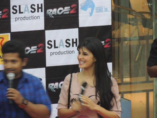 Jacqueline Speak About The Movie At Reliance Digital In Pune To Promote Race 2