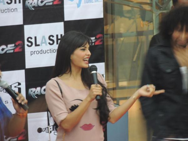 Jacqueline Speak Out Photo Clicked At Reliance Digital In Pune To Promote Race 2
