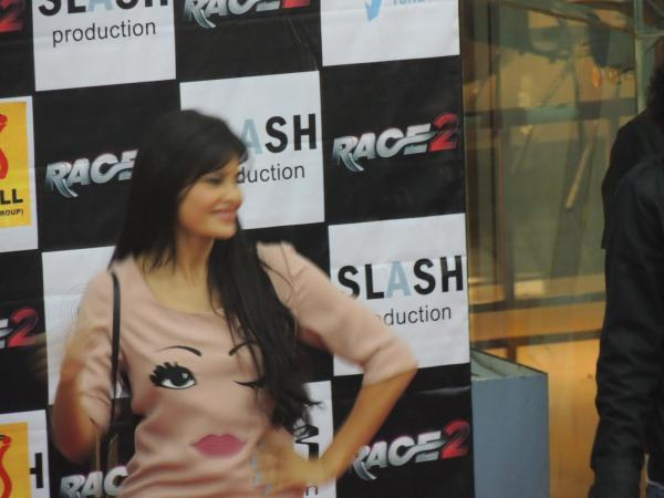 Jacqueline Spotted At Reliance Digital In Pune To Promote Race 2