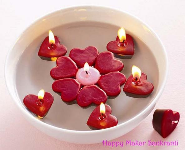 Makar Sankranti Wishes In Candle Light Wallpaper