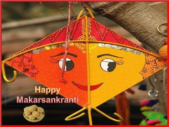Makar Sankranti Wishes Kite Wallpaper