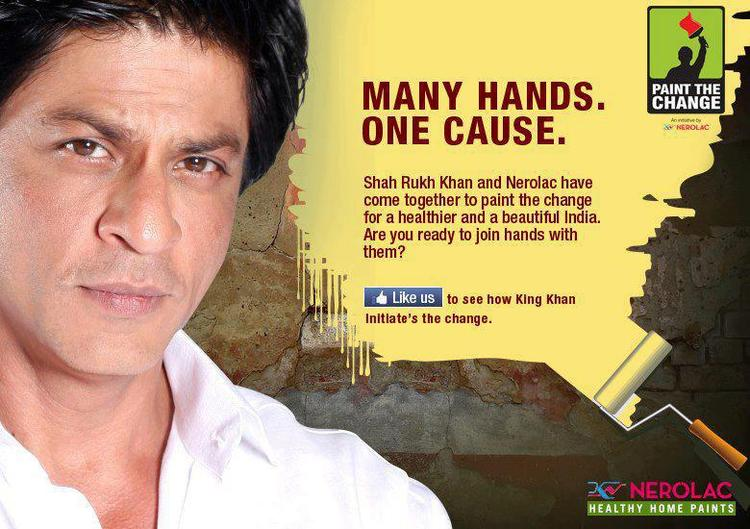 SRK Handsome Look In Nerolac Paint Ad Many Hands One Cause