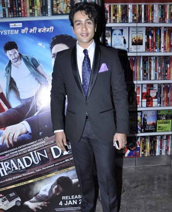 Adhyayan Looked Hansome In Suit At The Screening Of Dehradun Diary