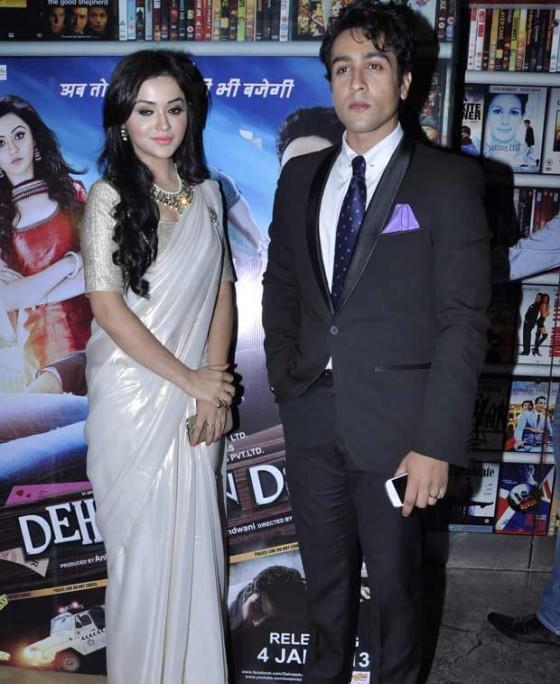 Ragini And Adhyayan Present At The Screening Of Dehradun Diary