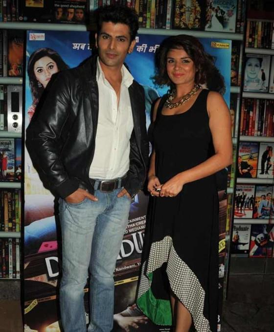 Rohit And Aashka Cute Smiling Pose For Photo At The Screening Of Dehradun Diary