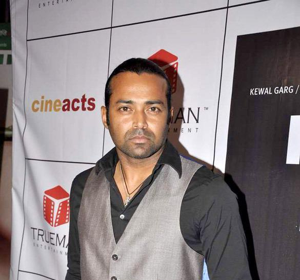 Leander Paes Snapped At The Premiere Of The Film Rajdhani Express