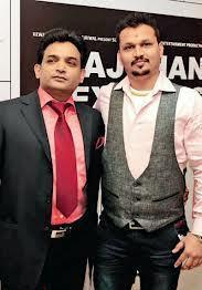 Producer Manoj And Rajesh Posed For Camera At The Premiere Of The Film Rajdhani Express