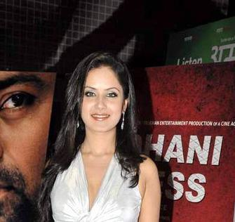 Puja Sexy And Charming Look In White Dress At The Premiere Of The Film Rajdhani Express