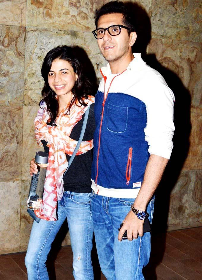 Ritesh With Dolly Spotted At Special Screening Of Inkaar