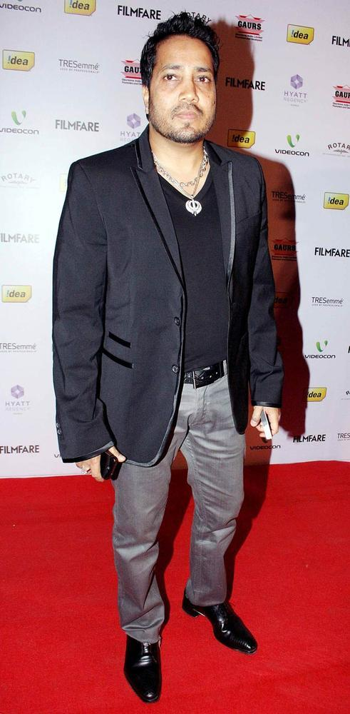 Mika Singh Snapped At The 57th Filmfare Nomination Party