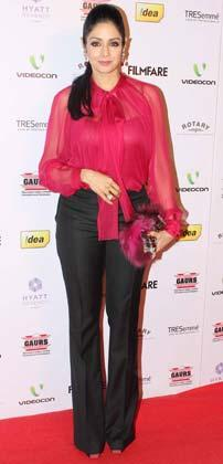 Sridevi Glamour Look Photo Clicked At The 58th Filmfare Nomination Party