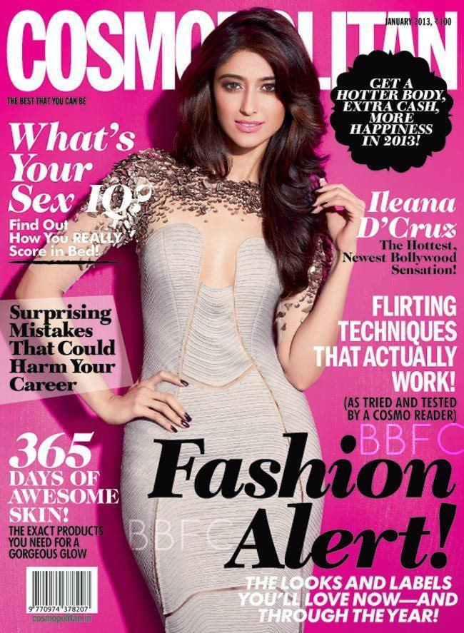 Ileana Cleavage Show Photo On The Cover Of Cosmopolitan India  January