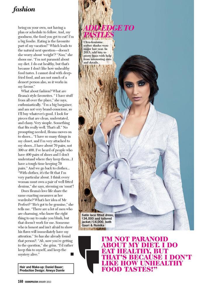 Ileana Hot Gorgeous Photo On Cosmopolitan India Magazine 2013