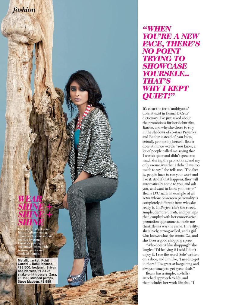 Ileana Trendy Looking Photo On Cosmopolitan India Magazine 2013