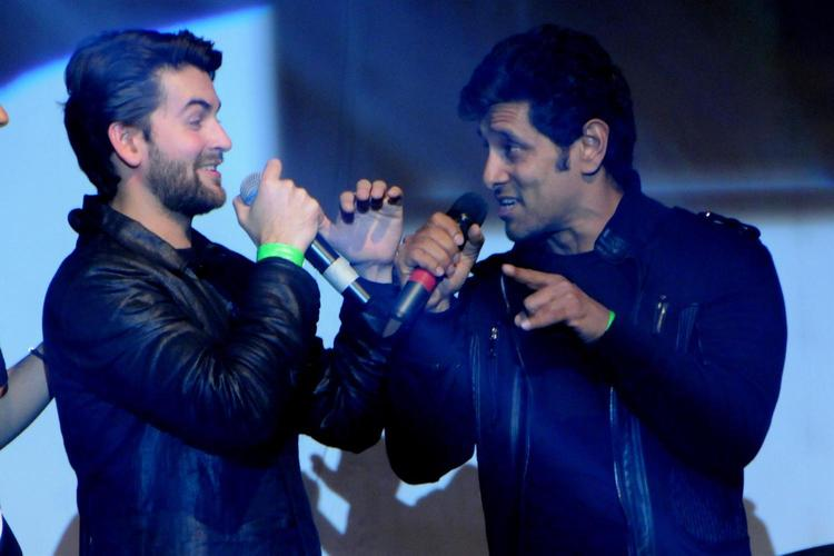 Vikram And Neil Singing Photo Still At David Music Launch And Live Music Concert