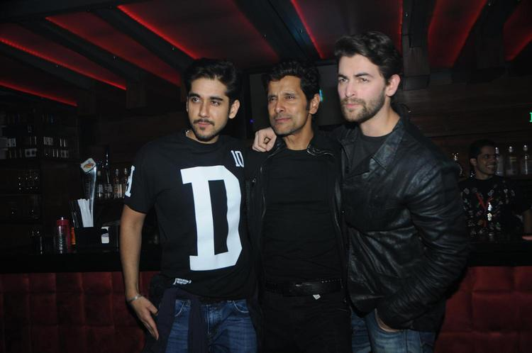Vinay,Vikram And Neil Pose For Camera At David Music Launch And Live Music Concert
