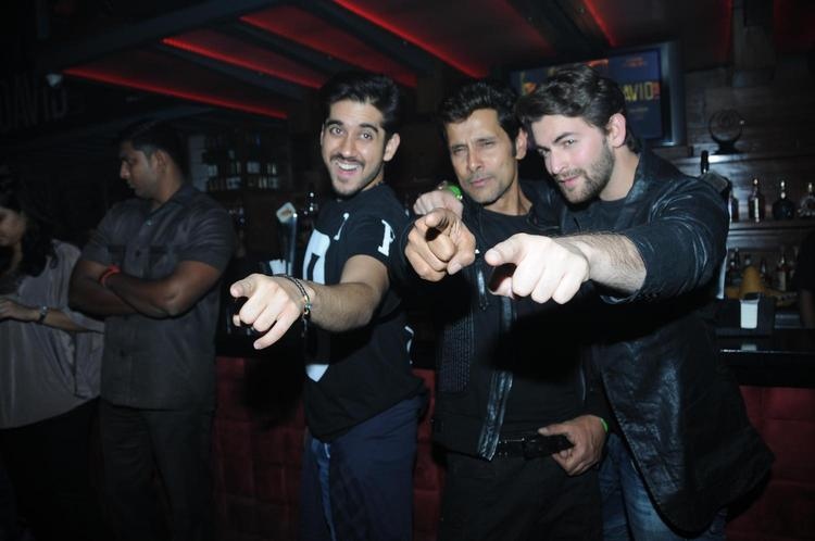 Vinay,Vikram And Neil Smiling Pose At David Music Launch And Live Music Concert