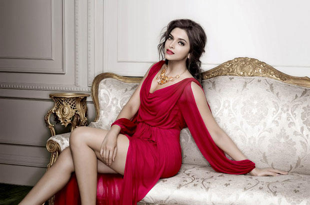 Deepika Padukone Sexy Expression Photo Shoot In A Red Ensable