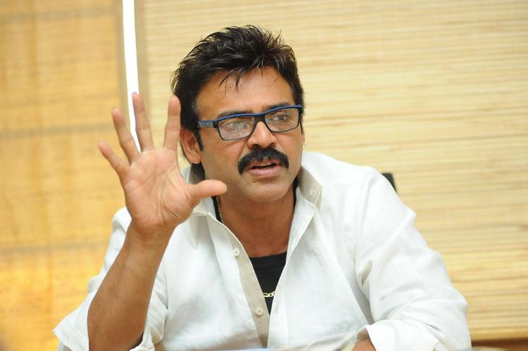 Venkatesh Speaking Still At SVSC Press Meet