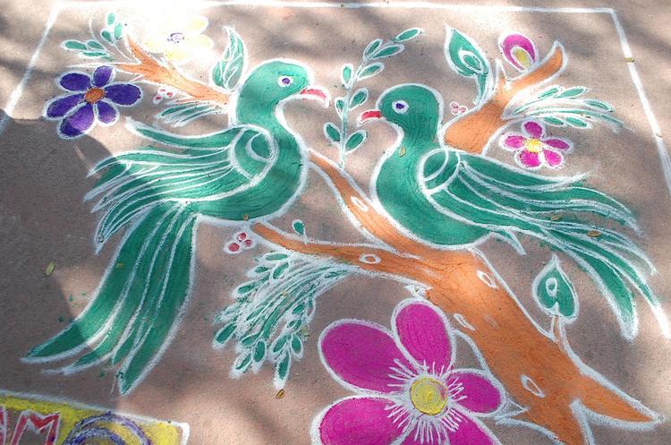 Beautiful Rangoli On Radio Mirchi Sankranthi Sambaralu 2013