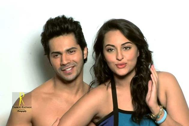 Sonakshi With Varun Nice Look With Cute Smiling Photo Shoot By Dabboo Ratnani