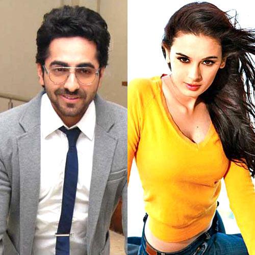 Ayushmann Khurrana And Evelyn Sharma Hot Look Photo