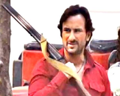 Saif Ali Khan With Gun Nice Still From Bullet Raja