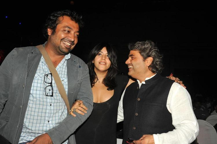 Anurag,Ekta And Vishal Smiling Cosy Snap At Launch Of Ek Thi Daayan
