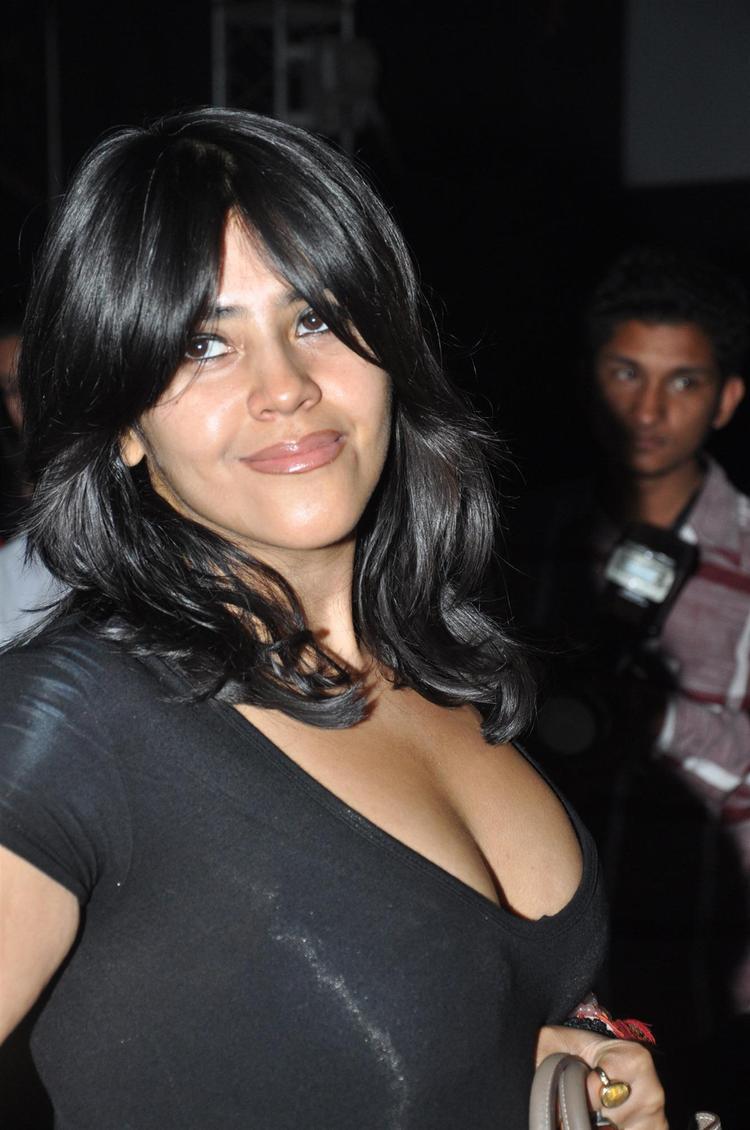Ekta Kapoor Cleavage Show Photo Clicked At Launch Of Ek Thi Daayan