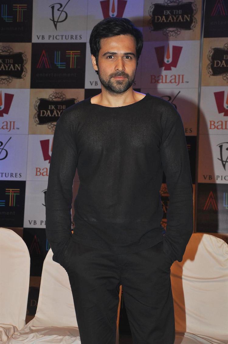 Emraan Smart Look Photo In A Black T Shirt And Pant At Launch Of Ek Thi Daayan