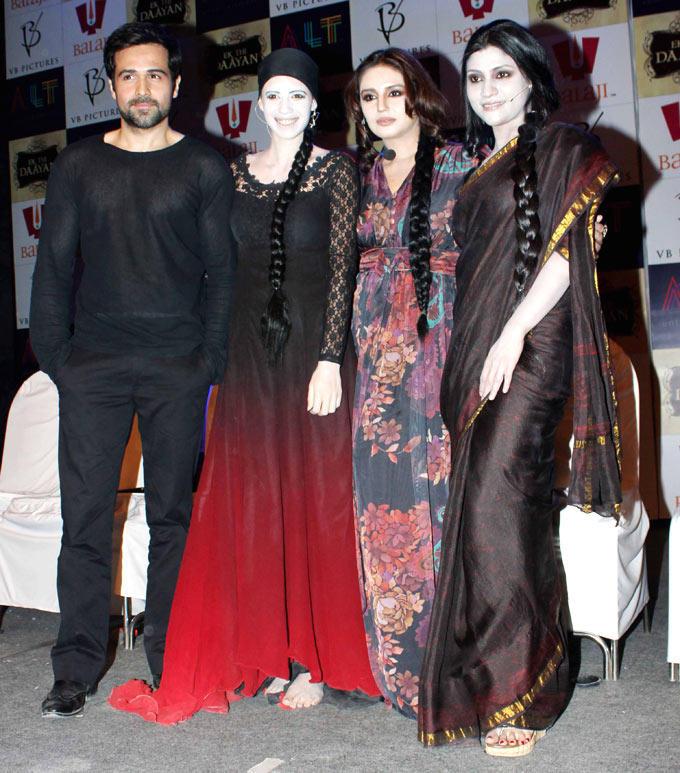 Emraan,Kalki,Huma And Konkana Nice Pose For Photo At The Launch Of Ek Thi Daayan