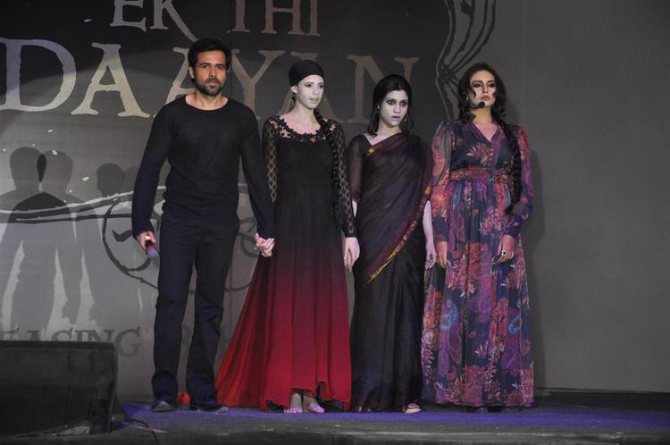 Emraan,Kalki,Huma And Konkana Photo Clicked On Stage At Launch Of Ek Thi Daayan