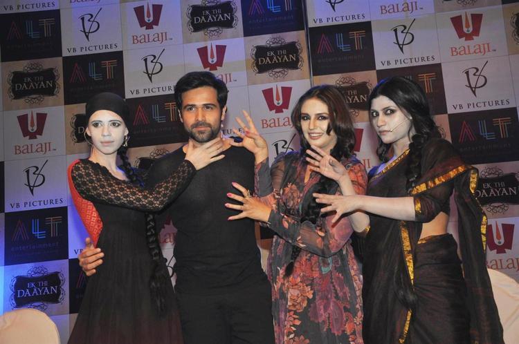 Kalki,Emraan,Huma And Konkana Pose As Ghost Style Killing At Launch Of Ek Thi Daayan