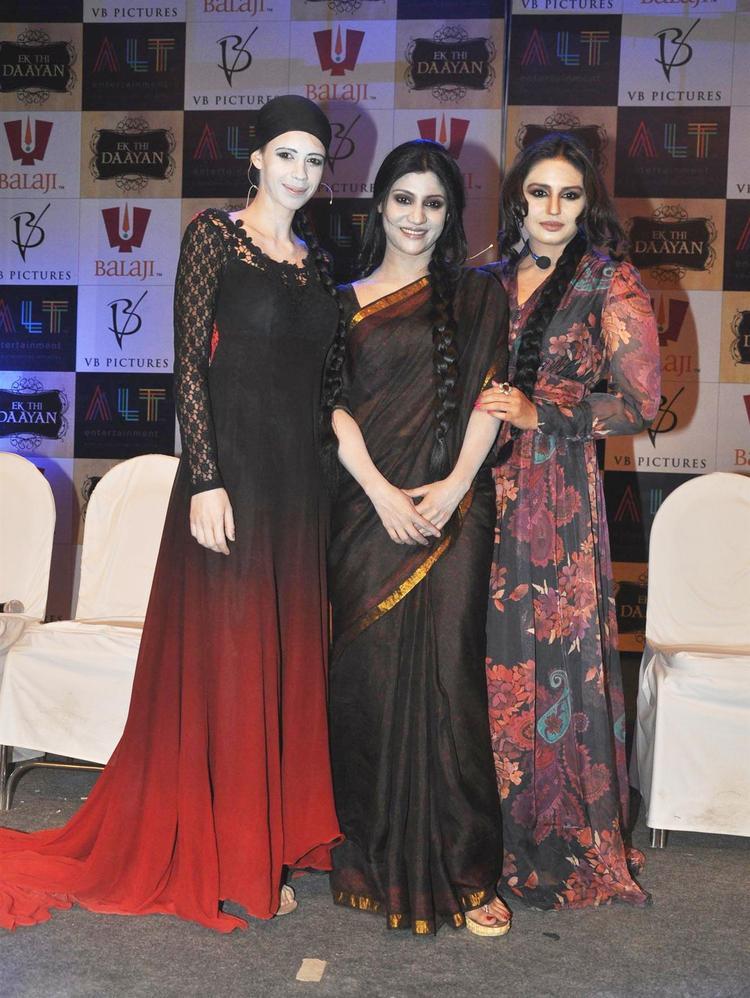 Kalki,Konkana And Huma Pose For Camera At Launch Of Ek Thi Daayan