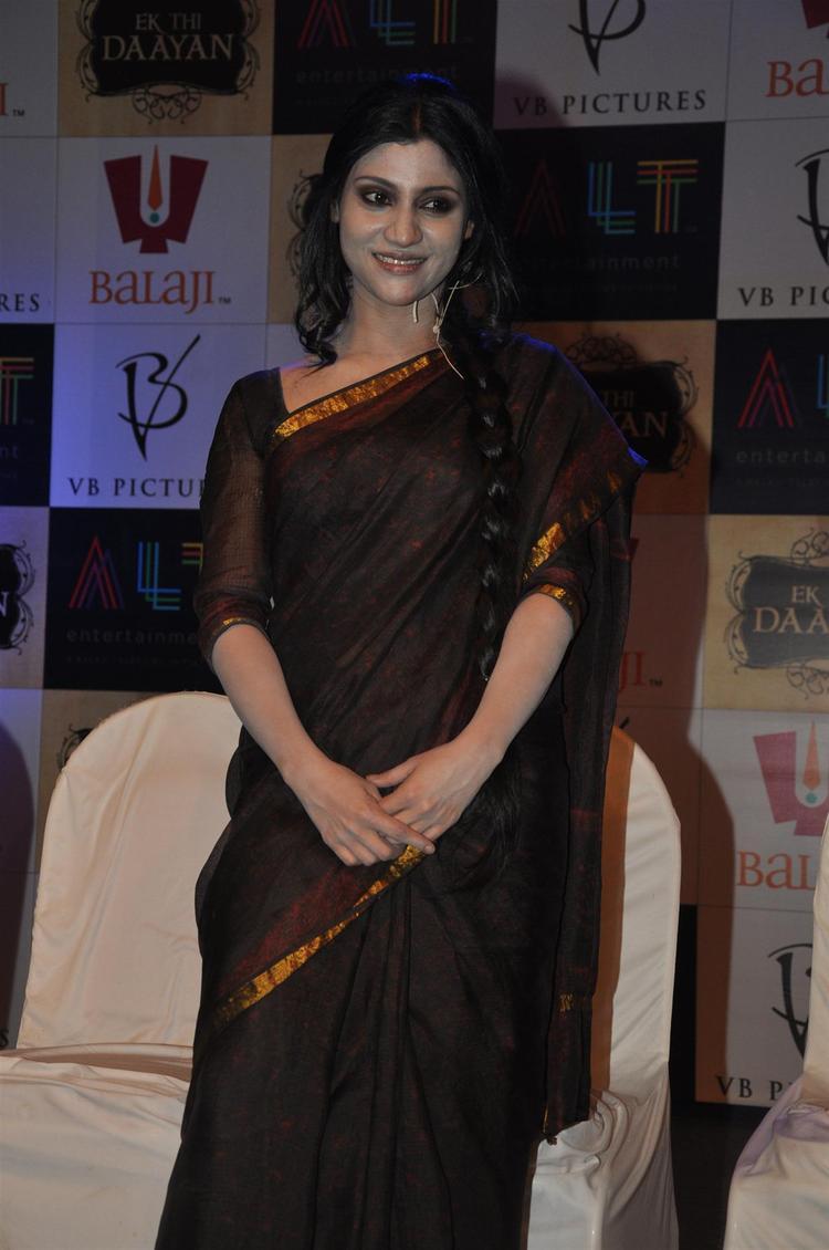Konkana Nice Look With Cute Smiling Photo At Launch Of Ek Thi Daayan