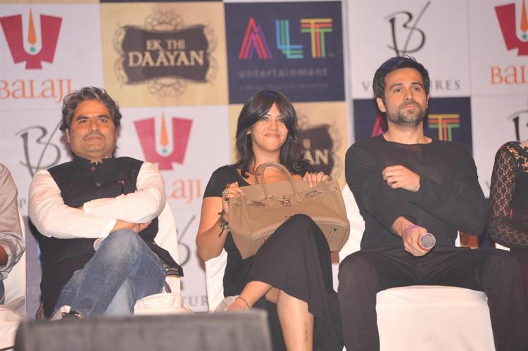 Vishal,Ekta And Emraan Spotted At Launch Of Ek Thi Daayan