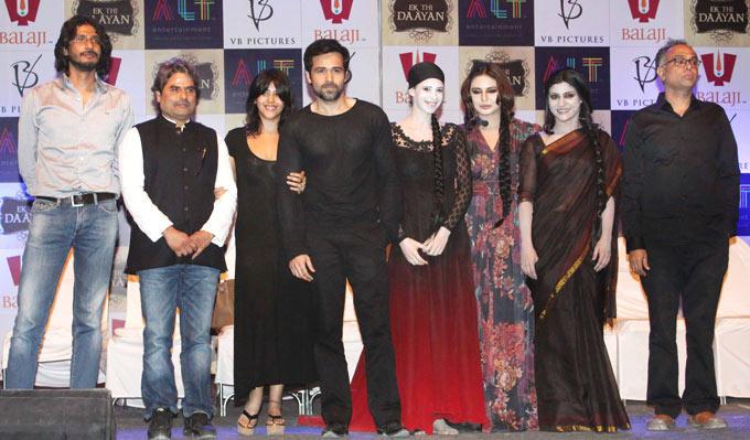 Vishal,Ekta,Emraan,Kalki,Huma And Konkana Posed For Camera At The Launch Of Ek Thi Daayan