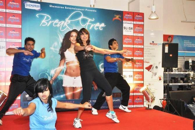 Bipasha Basu Danced Still During The Launch Of Fitness DVD Break Free