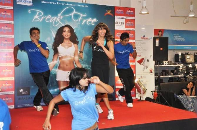 Bipasha Basu Danced Still At The Launch Of Fitness DVD Break Free