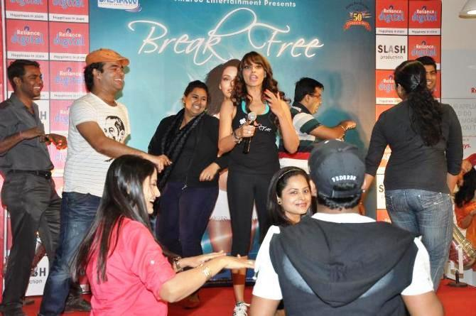 Bipasha Basu During The Launch Of Fitness DVD Break Free