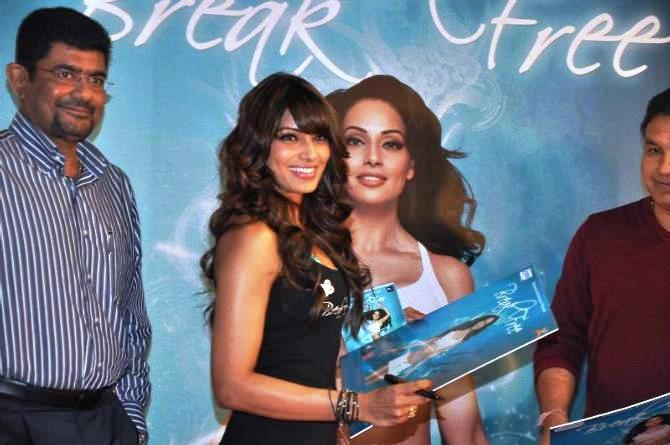 Bipasha Basu Shows The DVD At The Launch Of Fitness DVD Break Free
