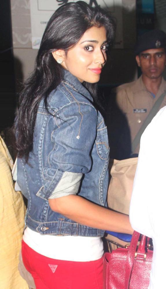 Shriya Saran Glamorous Look Still In A Blue Jacket