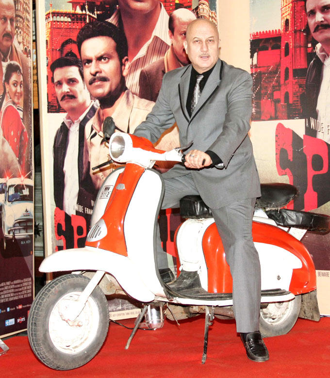 Anupam Photo Clicked On Scooter At Music Launch Of Special Chabbis
