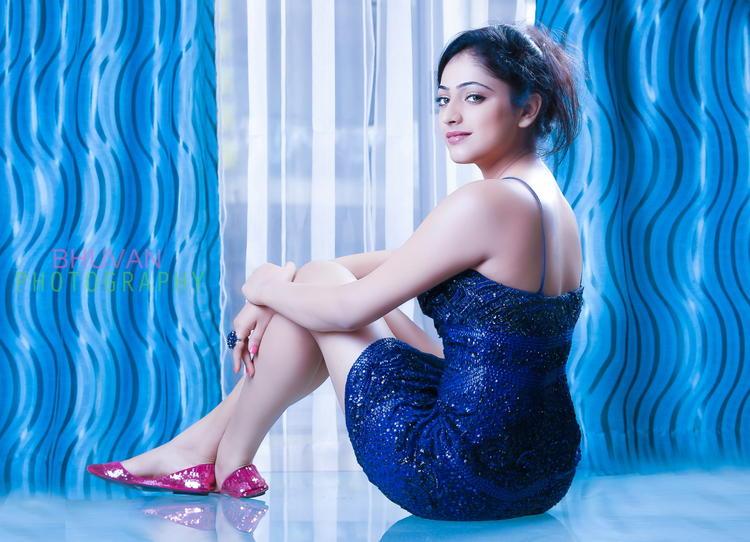 Haripriya Cute Sexy Back Look Pose Photo Shoot