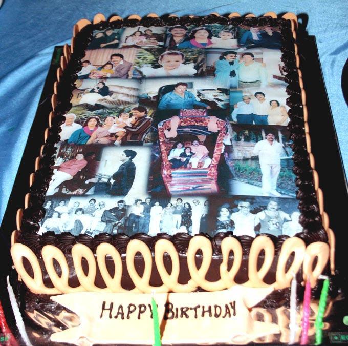 The Birthday Cake Photo At Surendra Wadhwanis Birthday Bash