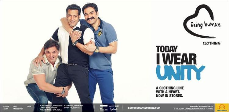 Salman With Brother Arbaaz And Sohail Nice Pose Photo Shoot For Being Human