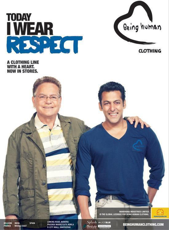 Salman Khan With Dad Salim Khan Smiling Photo Shoot For Being Human
